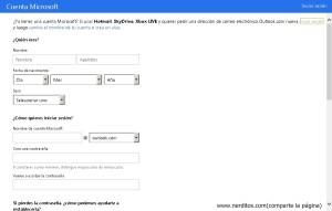 como crear una cuenta en hotmail