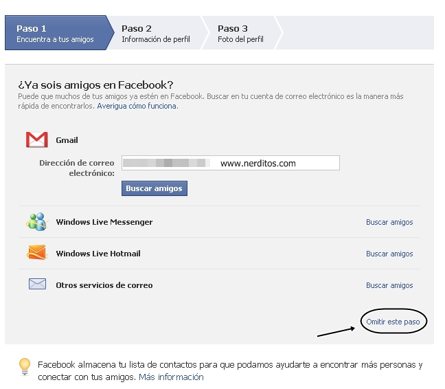 facebook omitir, crear cuenta en facebook