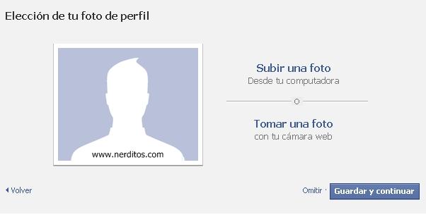 foto de perfil facebook, crear cuenta en facebook