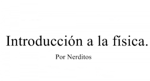 Introduccion a la fisica